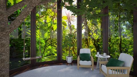 Treehouse get away - Living room  - by Shan da farm freak