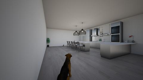 family kitchen  - Modern - Kitchen  - by zahrabashir