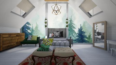 Attic Bed Outdoor - Rustic - Bedroom  - by TortillaChip