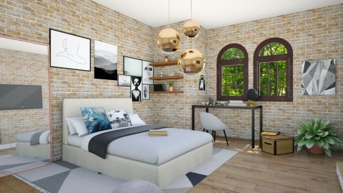 loft industrial - Rustic - Bedroom  - by Carole Fontaine