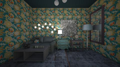 Random Turquoise - Living room - by bvbstyle08