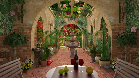 Design 193 Hacienda Garden Walkway - Garden - by Daisy320