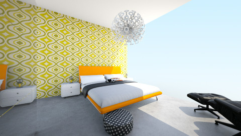 Bedroom Fenixloft - Retro - Bedroom  - by JamboInterieur