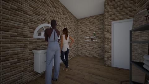 modern restuant - Modern - Bathroom  - by maddyrs