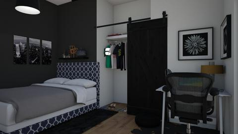 Black Bedroom - Modern - Bedroom  - by Itsavannah