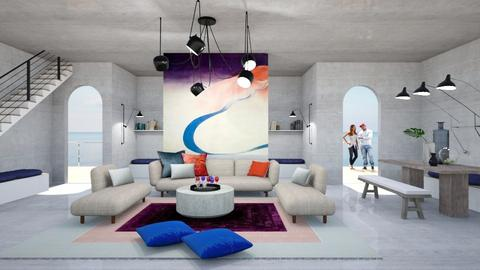 Sky way - Living room - by chania