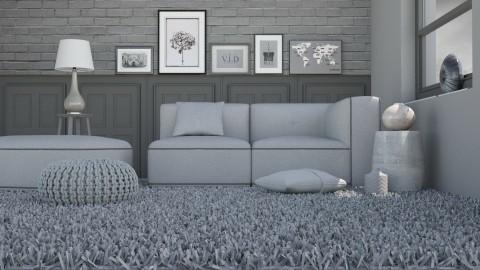 Monochromatic - Living room  - by Liu Kovac