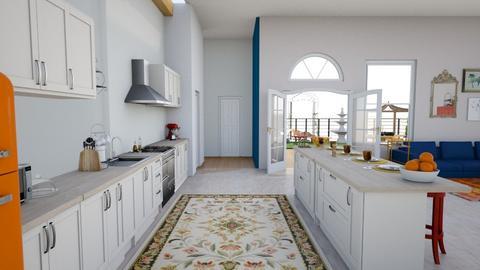 r u s t i c - Retro - Kitchen - by Silversliver