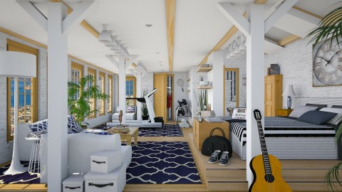 Design 164 The Loft - Bedroom  - by Daisy320
