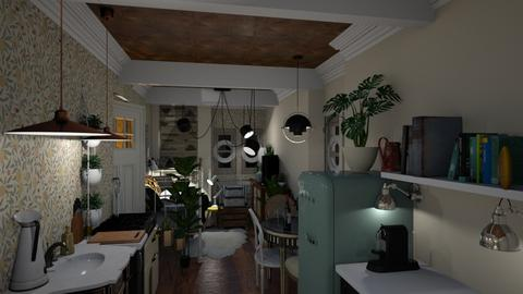 Mini apartment  - Eclectic - Kitchen  - by HenkRetro1960