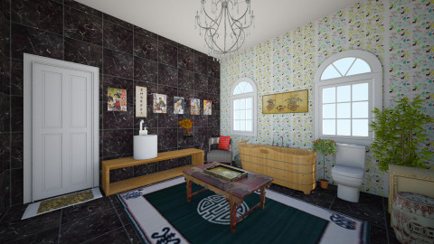 Bath of the Orient - Bathroom - by Wendy Broyles