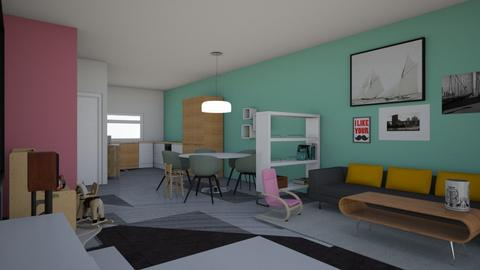 Anne en Maurice  - Living room  - by EvaLePeva