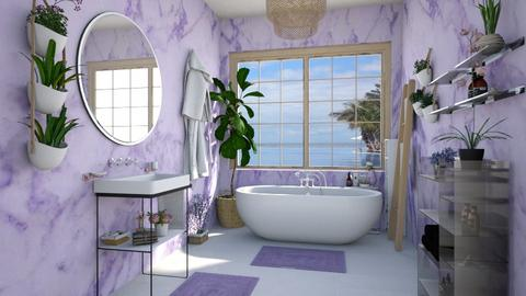 master bath lavender - Bathroom - by Ritix