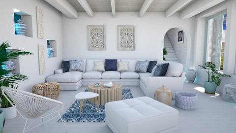 mmodern greek living - Living room  - by Moonpearl
