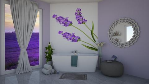 Lavender Bathroom - Bathroom - by chocolatedonut71