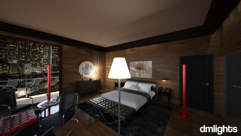 NY City Hotel Room Gispen - Bedroom - by DMLights-user-1040449