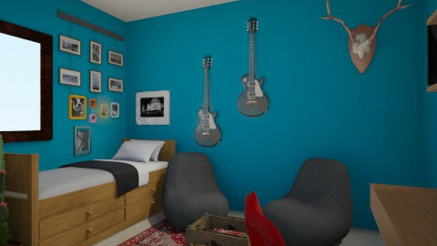 Leo - Rustic - Bedroom  - by leonelarrietarodriguez