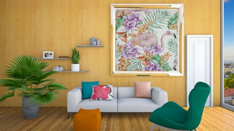 Tropical Feel - Living room  - by Cailyn V