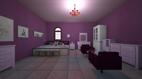 Purple Guest Room - Modern - Bedroom - by Ravina_9069