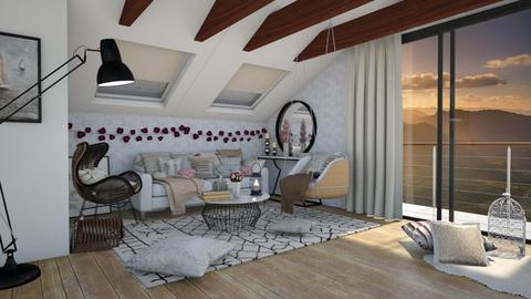 Attic living room - Country - Living room  - by Nina Colin