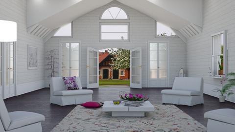 Sloping ceilings - Living room  - by nat mi
