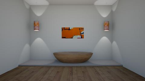 Orange and white bathroom - Bathroom  - by DreamerStar202