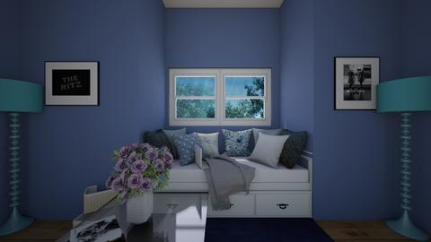 blue Window bed - Classic - Living room  - by Little_Laya