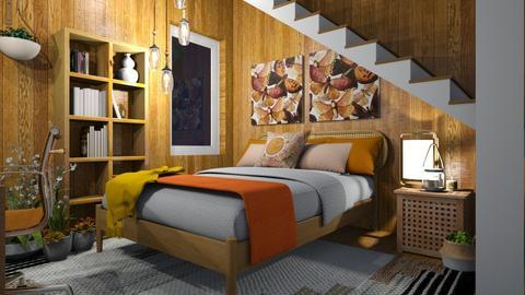The basement bedroom - by Celia Schrag