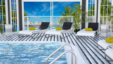 Fancy Hotel Pool - by Tzed Design
