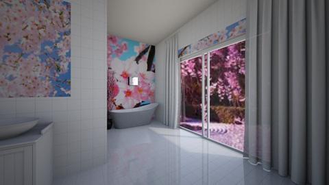 Cherry Blossom Bathroom - Bathroom  - by home_designer10