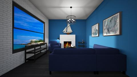 Blue Ocean Living Room - Living room  - by Na Fam