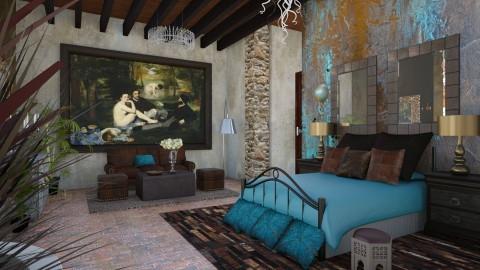 Patina2 Bedroom - Rustic - Bedroom  - by ZsuzsannaCs