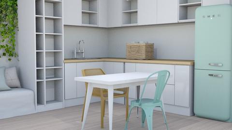 Seafoam white kitchen - Modern - by matildabeast