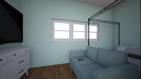 teal room - Bedroom  - by nobody098