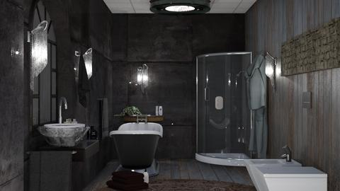 M_ Stone and wood - Bathroom  - by milyca8