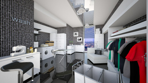 laundry modern room - Modern - by Senia N