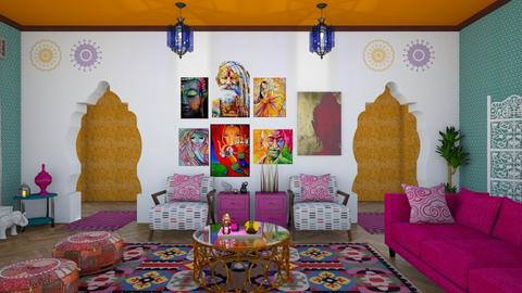 Colorful India - Eclectic - Living room  - by Amyz625