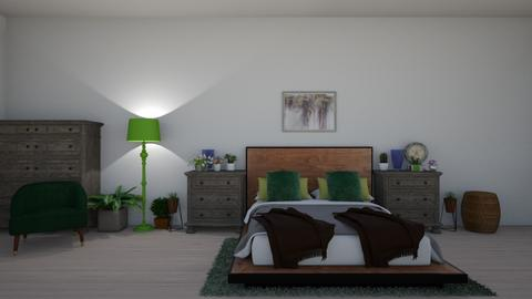 green shades - Bedroom  - by laurendesigns20