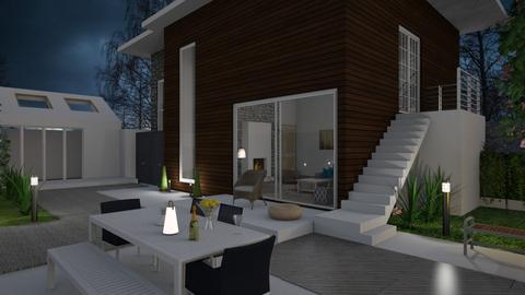 House at night - Modern - Garden  - by Snowbell