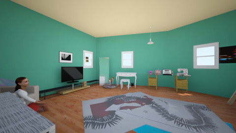 My dream room - Retro - Kids room  - by Rachel McGuire
