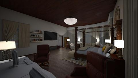SpgCty Mstr Bdrm - Modern - Bedroom  - by alonatech_2nd