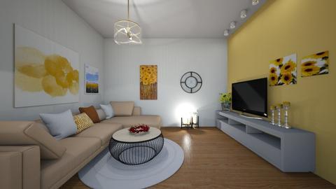 Wohnzimmer Sonnenblumen - Living room  - by nadja2006