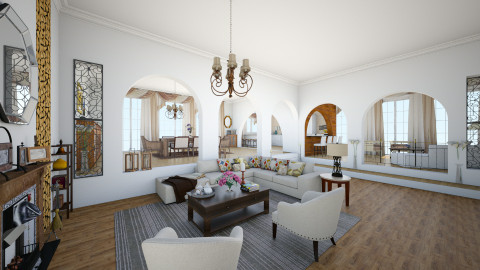 LR - Eclectic - Living room  - by giulygi