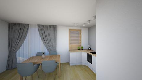 Kuchnia 4c - Living room - by KatarzynaLaszczyk