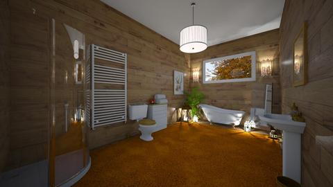 log cabin vibes  - Bathroom  - by Foleyburns10
