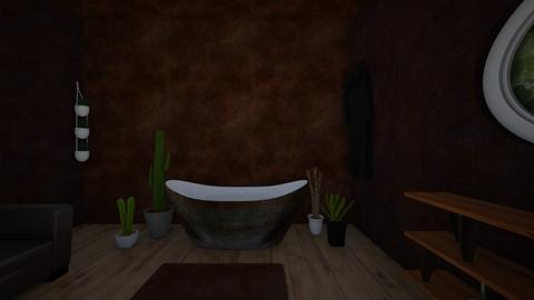 Rustic Brown - Rustic - Bathroom  - by hannahelise