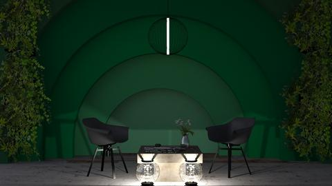 Green Living Room - Living room  - by Tanem Kutlu