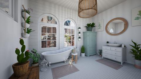 urban jungle bathroom - Bathroom - by PaisleyApril26