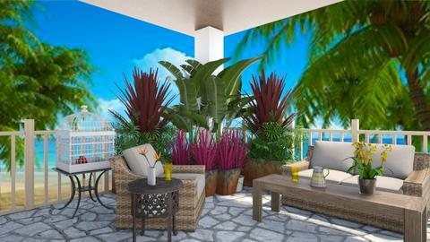 tropical patio - by fippydude