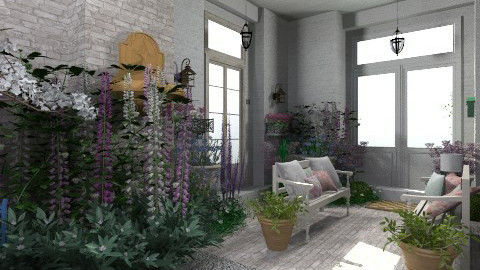 country porch - Country - Garden  - by user_7618082